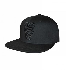CAPS & HATS GUINNESS BLACK HARP FLAT BRIM BASEBALL CAP