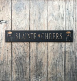 "PLAQUES, SIGNS & POSTERS PINT ""SLAINTE / CHEERS"" CARVED WOOD SIGN"