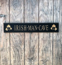 "PLAQUES & GIFTS ""IRISH MAN CAVE"" CARVED WOOD SIGN"