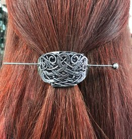 ACCESSORIES MULLINGAR PEWTER CELTIC SHEILD HAIR SLIDE
