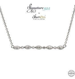 PENDANTS & NECKLACES SIGNATURE 925 - MARQUISE & ROUND NECKLET PENDANT with SWAROVSKI CRYSTALS