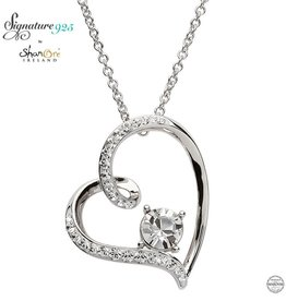 PENDANTS & NECKLACES SIGNATURE 925 - HEART PENDANT with SWAROVSKI CRYSTALS