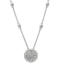 PENDANTS & NECKLACES SIGNATURE 925 - HALO CLUSTER PENDANT with SWAROVSKI CRYSTALS