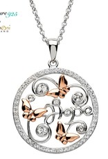 PENDANTS & NECKLACES SIGNATURE 925 - BUTTERFLY PENDANT with ROSE GP & SWAROVSKI CRYSTALS