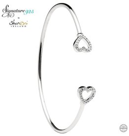 BRACELETS & BANGLES SIGNATURE 925 - HEART BANGLE with SWAROVSKI CRYSTALS