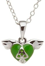 PENDANTS & NECKLACES CLEARANCE - LITTLE MISS STERLING GREEN HEART PENDANT - FINAL SALE