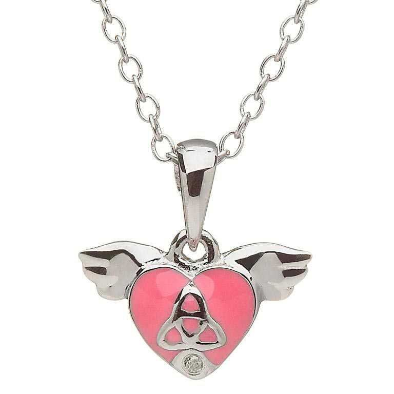 PENDANTS & NECKLACES CLEARANCE - LITTLE MISS STERLING PINK HEART PENDANT - FINAL SALE