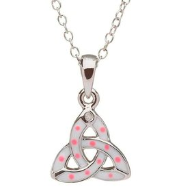 PENDANTS & NECKLACES CLEARANCE - LITTLE MISS STERLING PINK TRINITY PENDANT - FINAL SALE