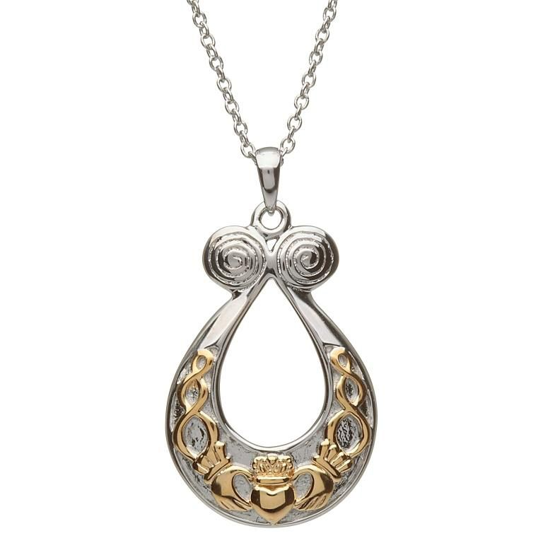 PENDANTS & NECKLACES CLEARANCE - SHANORE STERLING RETRO CLADDAGH with GP - FINAL SALE