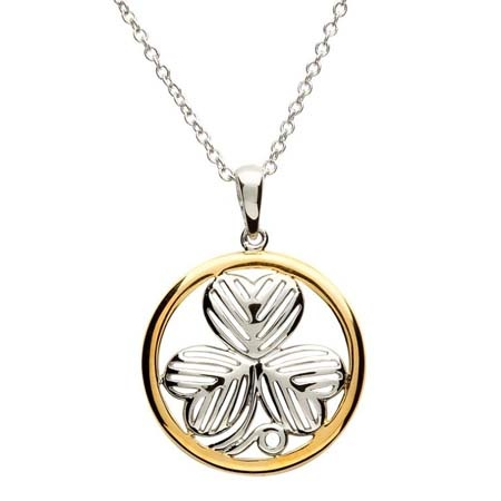 PENDANTS & NECKLACES CLEARANCE - SHANORE STERLING & GP SHAMROCK PENDANT - FINAL SALE