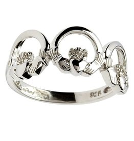 RINGS CLEARANCE - SHANORE STERLING TRIPPLE CLADDAGH RING - FINAL SALE