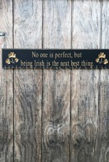 "PLAQUES & GIFTS ""NO ONE IS PERFECT..."" CARVED WOOD SIGN"