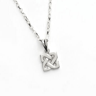 PENDANTS & NECKLACES FADO STERLING SQUARE CELTIC KNOT PENDANT