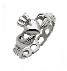 "RINGS FADO STERLING ""MO CHROI CLADDAGH"" RING"