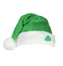 HOLIDAY DECOR GREEN SHAMROCK SANTA HAT