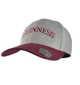 CAPS & HATS GUINNESS CAP with OPENER - MAROON & GREY