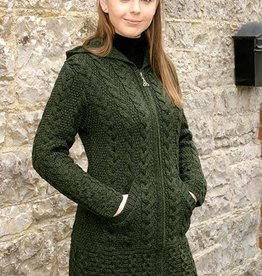 SWEATERS HOODED COAT with CELTIC KNOT ZIPPER