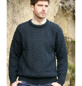 SWEATERS BLACKWATCH IRISH ARAN CREW NECK SWEATER