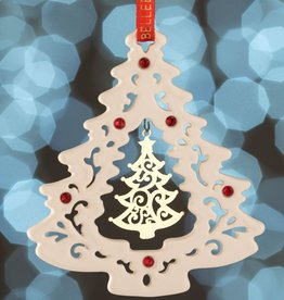 ORNAMENTS BELLEEK LIVING GOLD TREE HANGING ORNAMENT