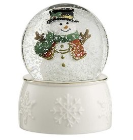 HOLIDAY BELLEEK LIVING SNOWMAN SNOWGLOBE
