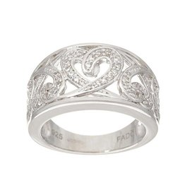 RINGS FADO STERLING HEART RING with CZs
