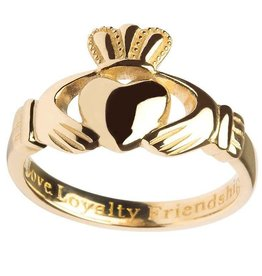 RINGS SHANORE 10K LADIES INSCRIBED CLADDAGH RING
