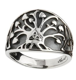 "RINGS GENERATIONS ""TRINITY TREE OF LIFE"" STERLING SILVER RING"