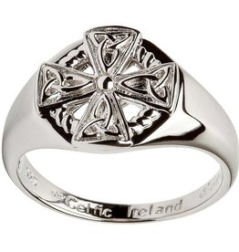 RINGS SHANORE STERLING GENTS CELTIC CROSS RING