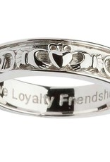 RINGS GENTS STERLING SILVER CLADDAGH WEDDING RING