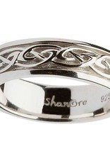RINGS LADIES STERLING SILVER CELTIC KNOT WEDDING RING