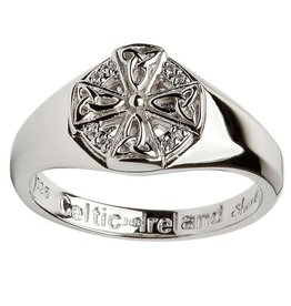 RINGS SHANORE STERLING LADIES CELTIC CROSS RING