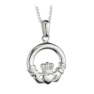 PENDANTS & NECKLACES CLEARANCE - SOLVAR STERLING SML CLADDAGH PENDANT - FINAL SALE