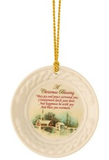 ORNAMENTS BELLEEK CHRISTMAS BLESSING ORNAMENT