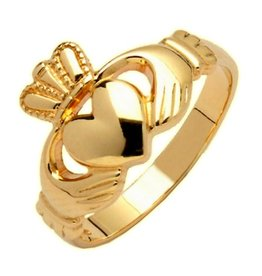 RINGS FADO 10K HEAVY LADIES CLADDAGH RING