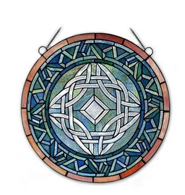 STAINED GLASS TIFFANY STYLE CELTIC STAIN GLASS WINDOW