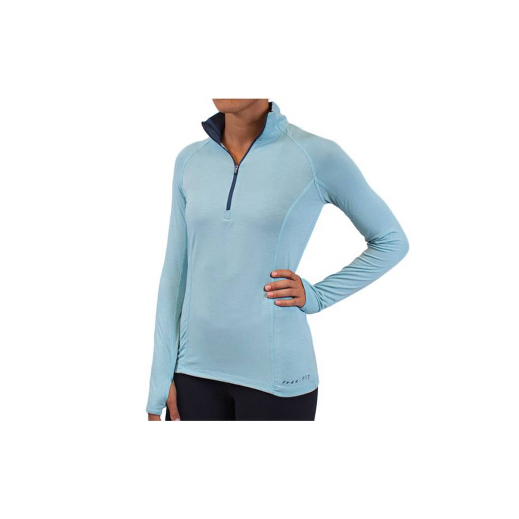 Free Fly Apparel Women's Bamboo Midweight Quarter Zip