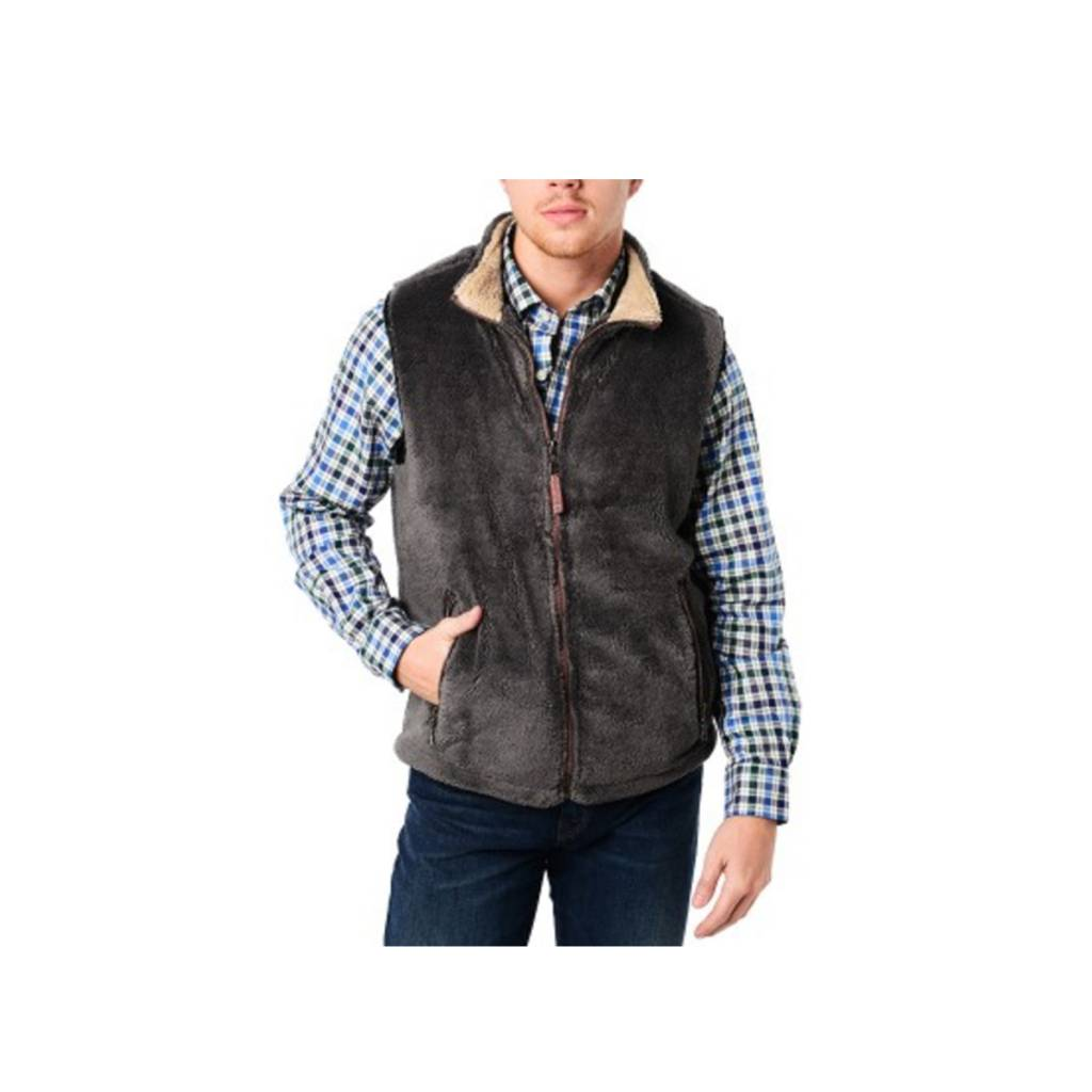 True Grit Men's Pebble Pile Double Up Vest