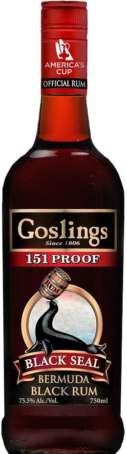 Goslings Black Seal 151 Proof 1L