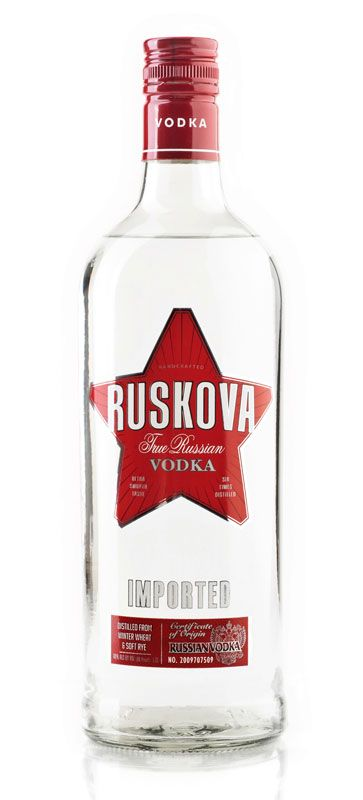 Ruskova Russian Vodka 375mL