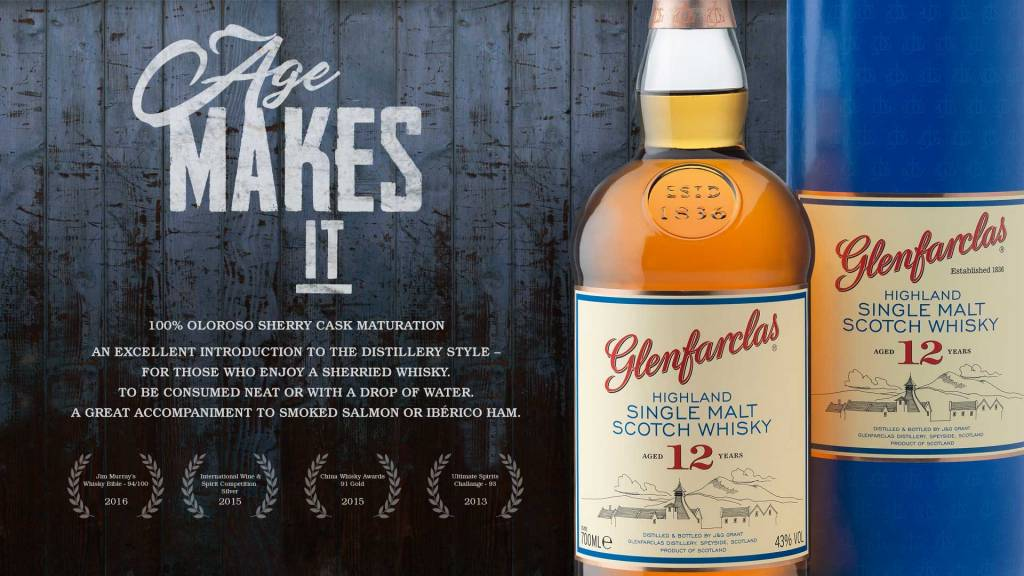 Glenfarclas Highland Single Malt Scotch Whisky 12 Years 750ml