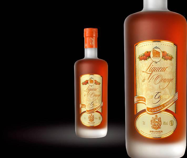 Prunier Liqueur D'orange Cognac 375mL