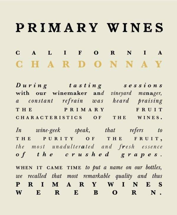 Primary Wines Chardonnay