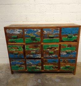 Blue Green Teak Dresser