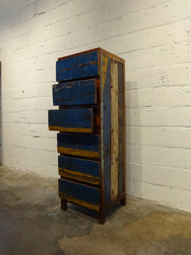 Tall Blue Dresser
