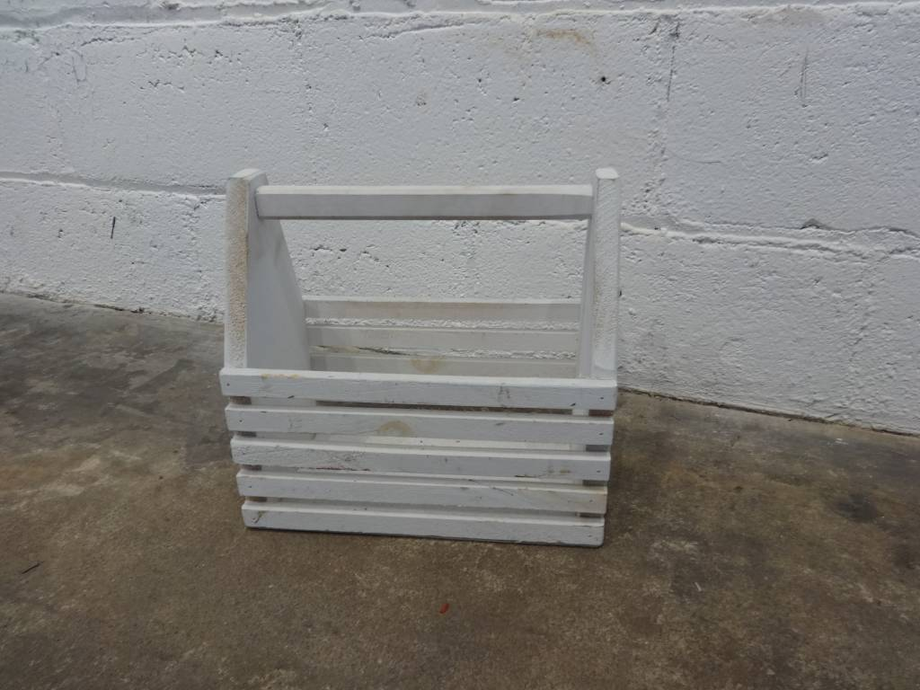 Small Wooden Crate with Handle