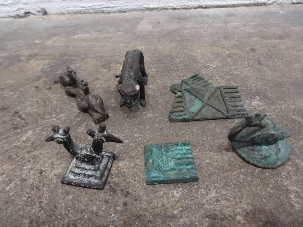 Ghana Figurine and Detailed Ring