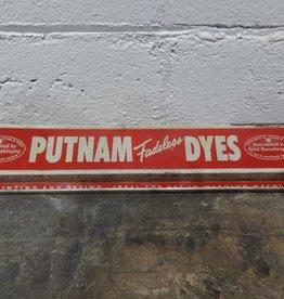 """Vintage """"Putnam Fadeless Dyes"""" Sign"""