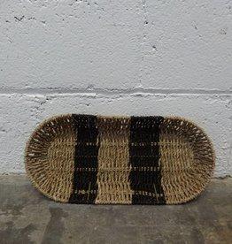 Striped Woven Basket