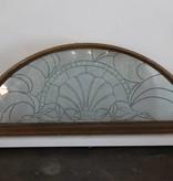 Arched Transom Heavy Glass Window