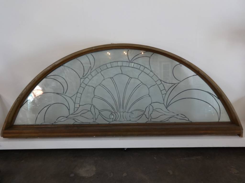 Arched Transom Heavy Glass Window